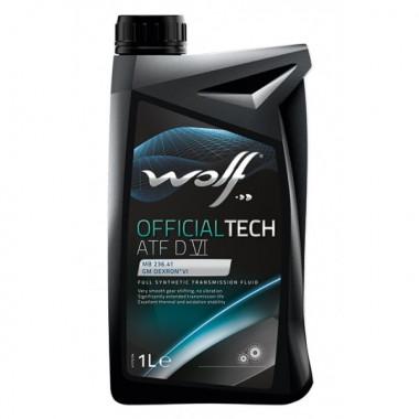 Трансмиссионное масло Wolf для АКПП OFFICIALTECH ATF D VI 1 литр.