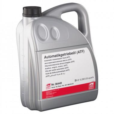 Трансмиссионное масло FEBI 36449 для АКПП ATF красное 5 литров.