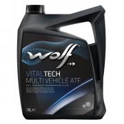Трансмиссионное масло Wolf для АКПП VITALTECH MULTI VEHICLE ATF 5 литров.