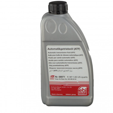 Трансмиссионное масло FEBI 08971 для АКПП ATF красное 1 литр.
