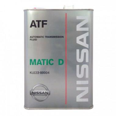 Трансмиссионное масло Nissan для АКПП Matic Fluid D 4 литра.