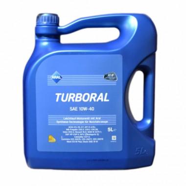 Моторное масло Aral Turboral 10W-40 5 литров.
