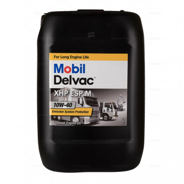 Моторное масло Mobil Delvac XHP ESP M 10W-40 20 литров.