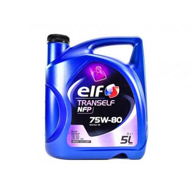 Трансмиссионное масло ELF для МКПП Tranself NFP 75W-80 5 литров.