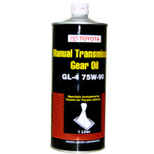 Трансмиссионное масло МКПП Toyota Manual Transmission Gear Oil 75W-90 GL-4 1 литр.