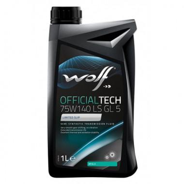 Трансмиссионное масло Wolf для мостов OFFICIALTECH 75W-140 LS 1 литр.