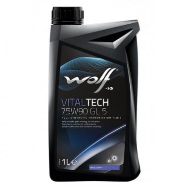 Трансмиссионное масло Wolf для мостов VITALTECH 75W-90 1 литр.