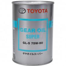 Трансмиссионное масло для мостов Toyota Gear Oil Super 75W-90 GL-5 1 литр.