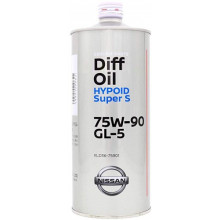 Масло для мостов гипоидное Nissan Diff Oil Hypoid Super 75W-90 GL-5 1 литр.