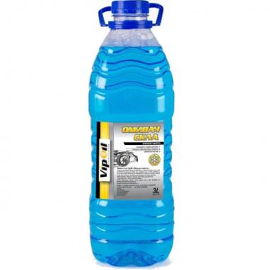 Жидкость стеклоочистителя зимняя VipOil -20°C Морской бриз 3 литра.