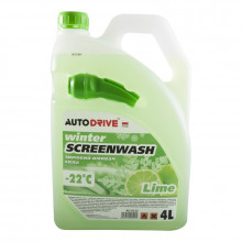 Жидкость стеклоочистителя зимняя Auto Drive Winter Screenwash Lime -22°C 4 литра.