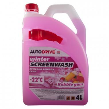 Жидкость стеклоочистителя зимняя Auto Drive Winter Screenwash Bubble Gum -22°C 4 литра.