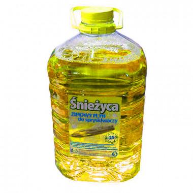 Жидкость стеклоочистителя зимняя СНЕЖИЦА -25°C Лимон 5 литров.
