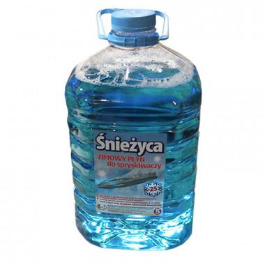 Жидкость стеклоочистителя зимняя СНЕЖИЦА -25°C Морская свежесть 5 литров.
