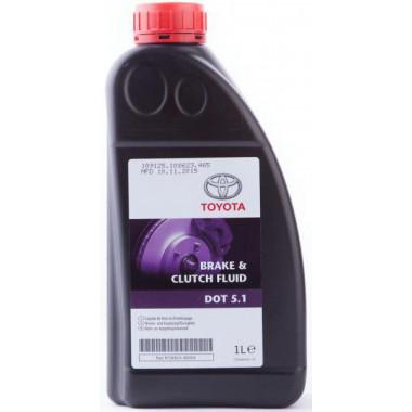 Тормозная жидкость Toyota Brake & Clutch Fluid DOT-5.1 1 литр.