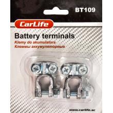 Клеммы аккумуляторные свинец CARLIFE BT103 тонкая