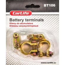 Клеммы аккумуляторные цинк, латунное покрытие CARLIFE BT106